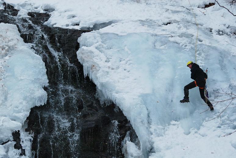 piljski vodopad zimi