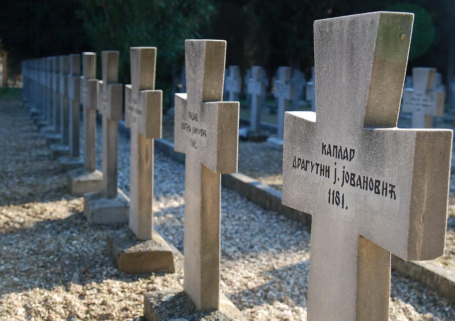 spomenici na srpskom vojnickom groblju