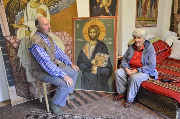 Sa suprugom Svetlanom, koju je upoznao u carskom gradu Prizrenu