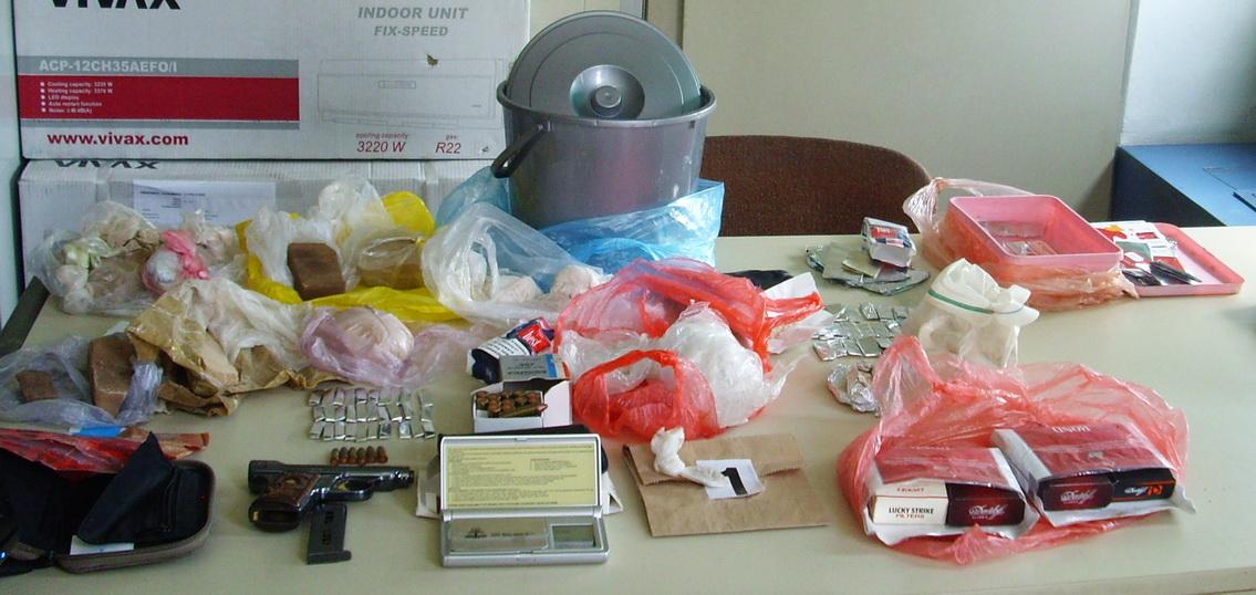 Zaplenjena droga i pištolj sa municijom