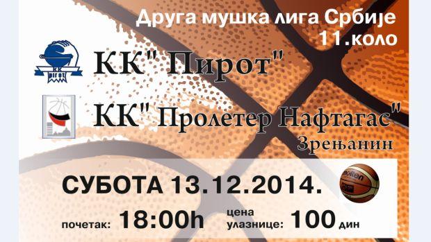 """Photo of KK""""Pirot"""" dočekuje zrenjaninski """"Proleter"""""""