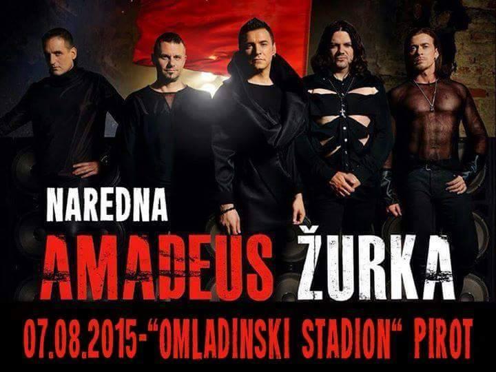 Photo of Amadeus band 7. avgusta na Omladinskom stadionu