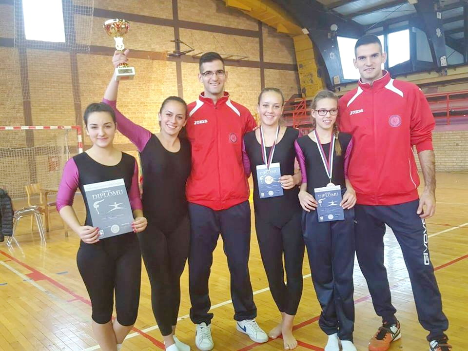 Photo of Gimnastičarke prve ekipno u Knjaževcu