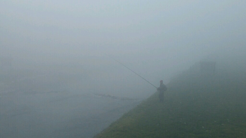 Photo of Ni gusta magla nije prepreka za prave ribolovce