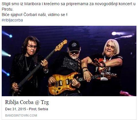 Photo of Riblja čorba najavila spektakularan koncert večeras u Pirotu