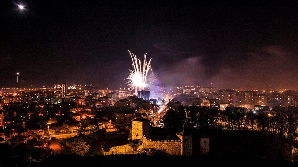 Photo of Pogled na Pirot sa Sarlaha za vreme spektakularnog vatrometa