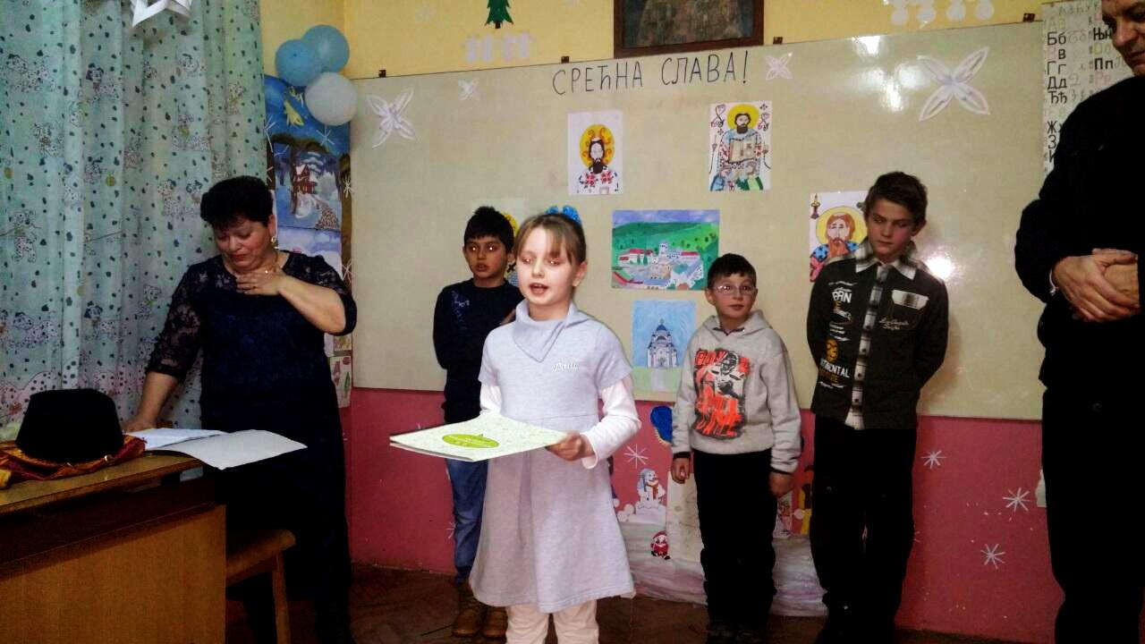 Photo of I seoska škola sa tri đaka u Velikom Jovanovcu obeležila Svetog Savu