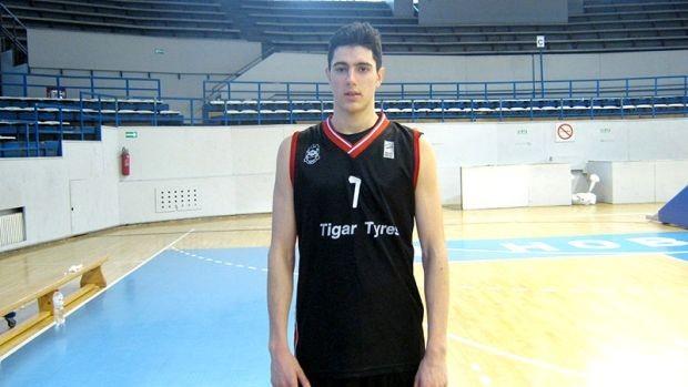 Photo of Luka Vasić na pripremama juniorske reprezentacije Srbije