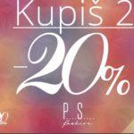 Od 6. do 12. jula AKCIJA u PS Fashion-u – 20 posto popusta za dva i više kupljenih artikala