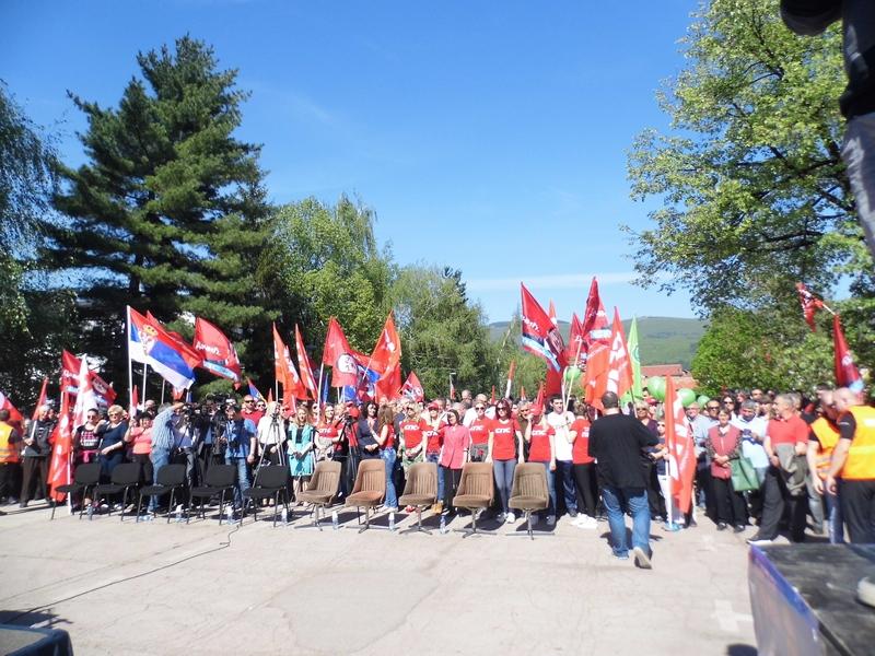 """Photo of Ispred """"Prvog maja""""miting Dačićeve koalicije"""