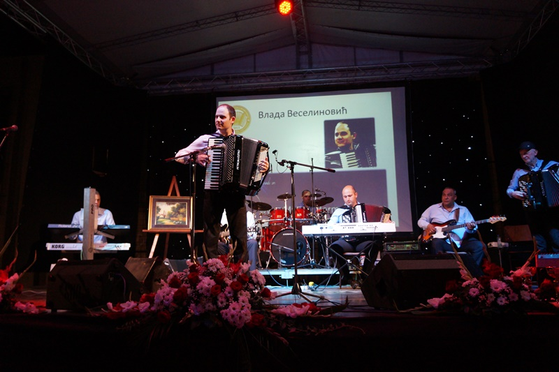 Nastup kao gost veceri na Prvoj harmonici Vojvodine avgust 2015 god