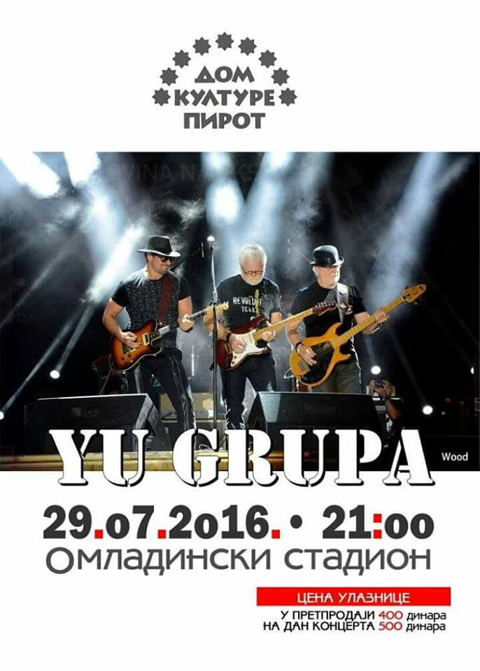 "Photo of ""YU grupa"" – legende rok muzike nastupaju u Pirotu"