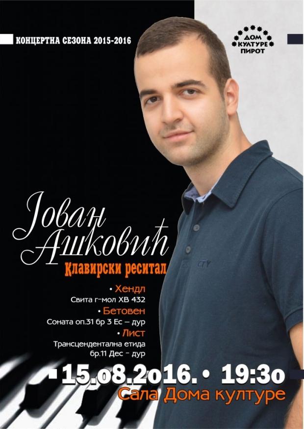 Photo of Koncert klasiče muzike Jovana Aškovića