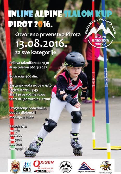 "Photo of Otvoreno prvenstvo Pirota ""Inline alpin slalom roler kup"""