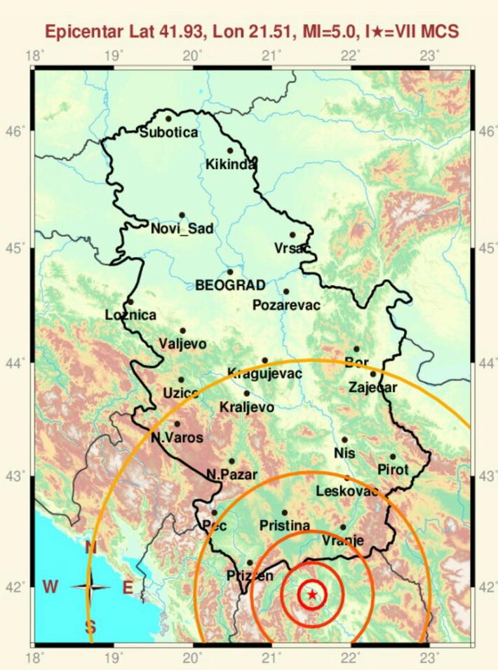 Photo of Zemljotres koji je potresao Skoplje osetili i Piroćanci