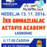 Košarkašice dočekuju Aktavis iz Leskovca