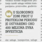 Slobodna zona privukla 400 miliona evra investicija u Pirot