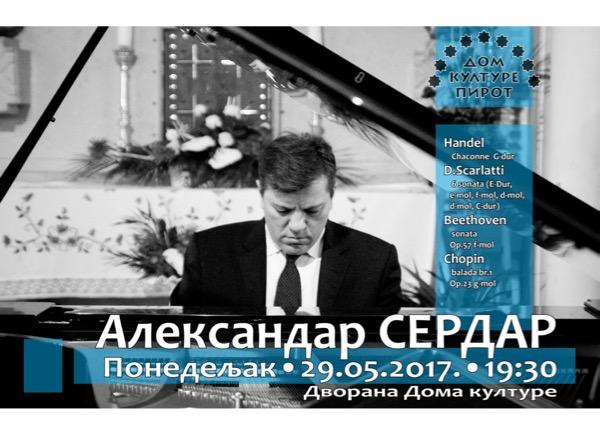 Photo of Pijanista Aleksandar Serdar u Domu kulture u Pirotu