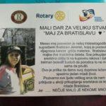 Za Milu prikupljeno skoro pola miliona dinara - maj za Bratislavu koja boluje od kancera