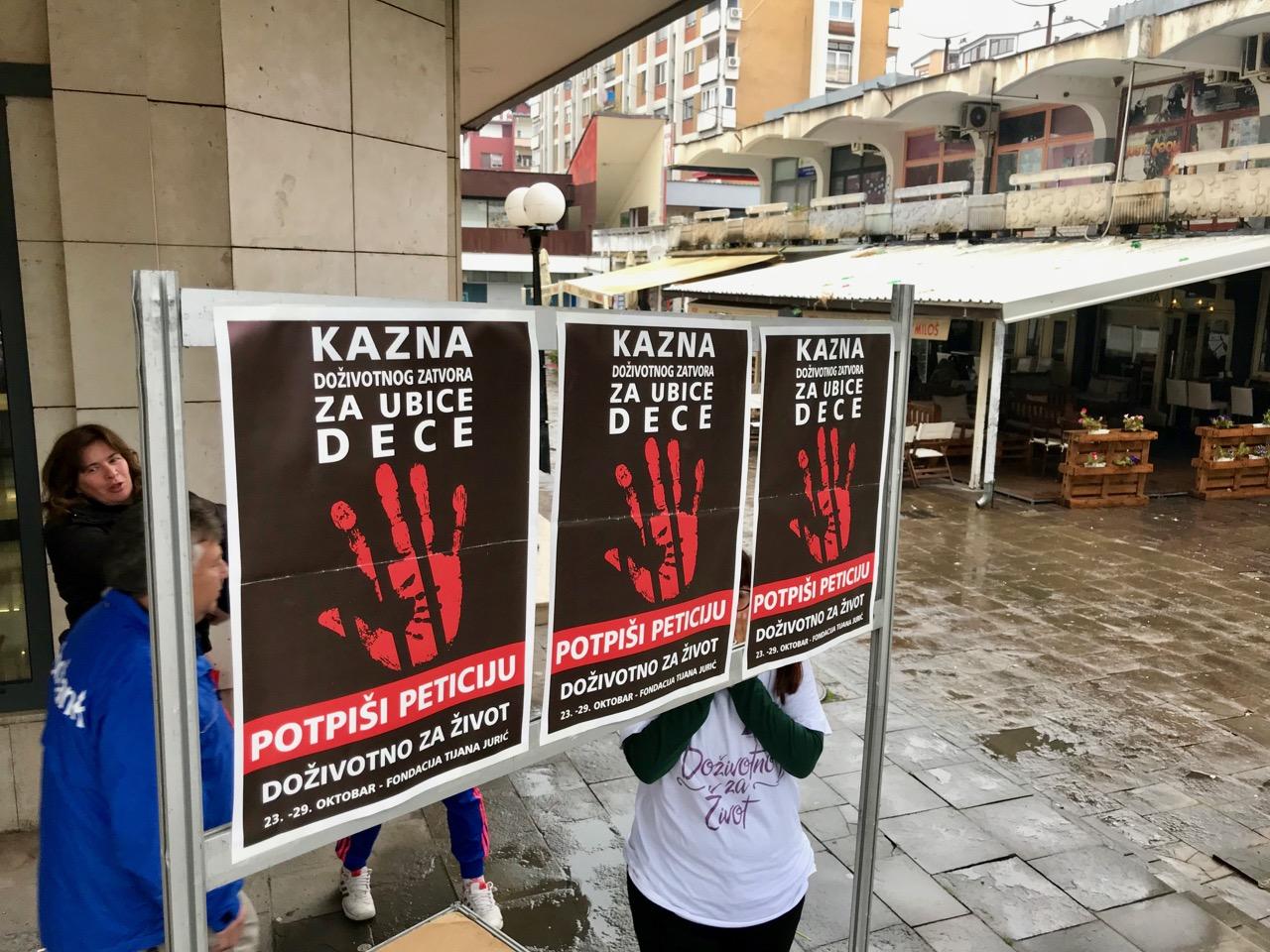 """Photo of Doživotni zatvor za ubice dece – akcija Fondacije """"Tijana Jurić"""""""