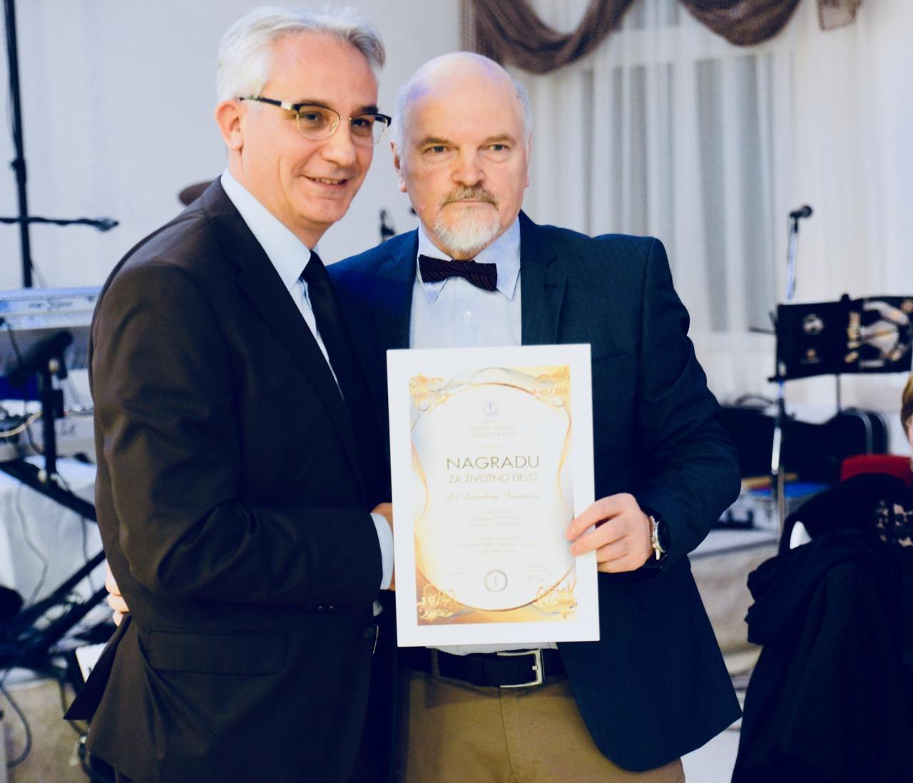 Photo of Priznanja za životno delo Srpskog lekarskog društva dr Miletu Ivanovu i dr Aleksandru Vaciću