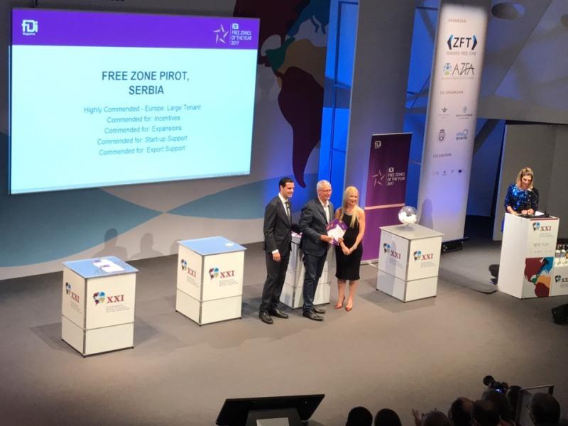 Photo of Slobodnoj zoni Pirot dodeljeno pet priznanja na Konferenciji Slobodnih zona AFZA