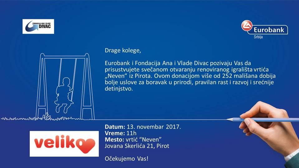 """Photo of """"Veliko srce"""" u Pirotu, otvara se renovirano igralište u vrtiću """"Neven"""""""