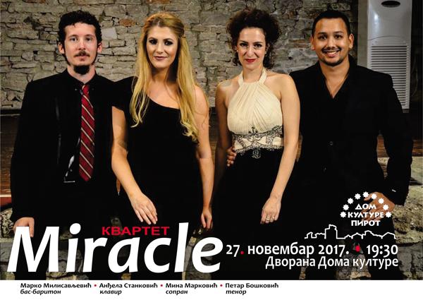 "Photo of Kvartet ""Miracle"" u dvorani Doma kulture u ponedeljak"