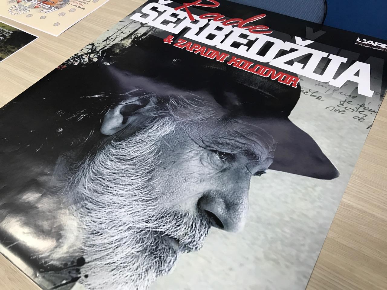 """Photo of Rade Šerbedžija i grupa """"Zapadni kolodvor"""" u Domu kulture u Pirotu"""