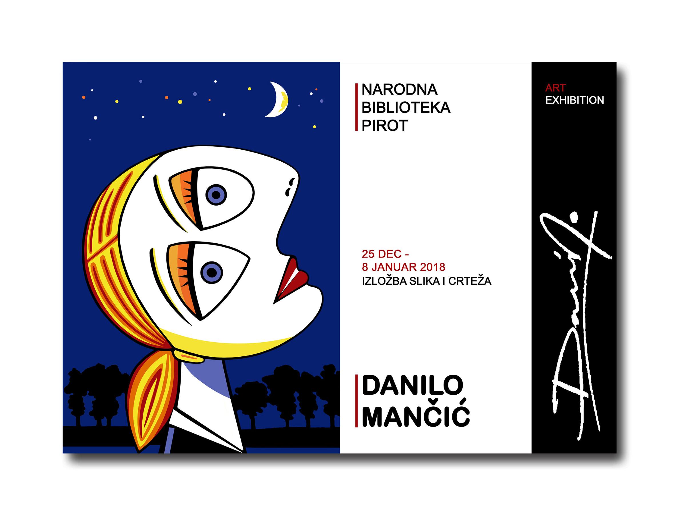 Photo of Izložba slika i crteža Danila Mančića u čitaonici Narodne biblioteke Pirot