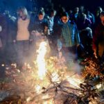 Badnje veče obeleženo u Pirotu, lomljenje česnice i paljenje badnjaka na više lokacija u gradu i selima