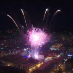Novogodišnji vatromet u Pirotu (snimak iz vazduha)