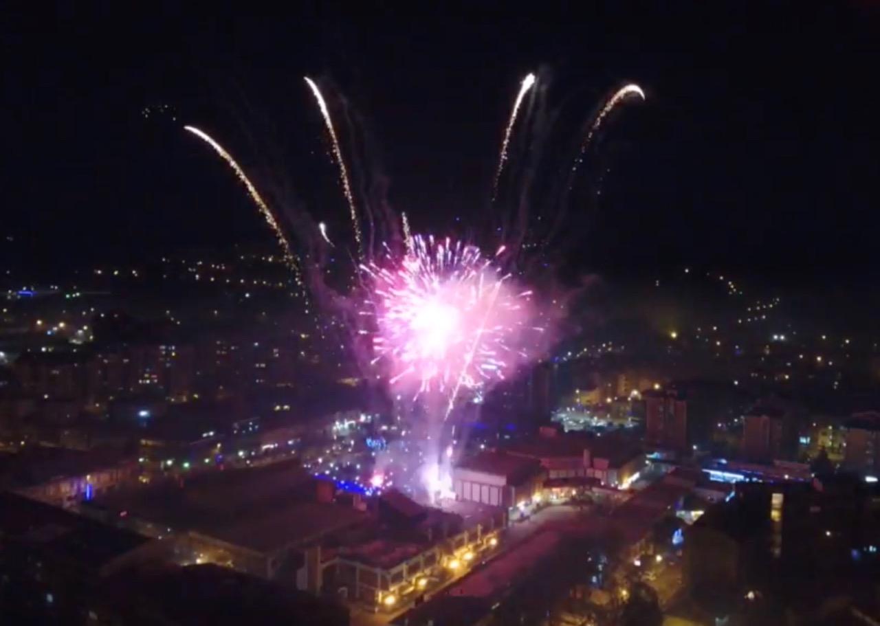 Photo of Novogodišnji vatromet u Pirotu (snimak iz vazduha)