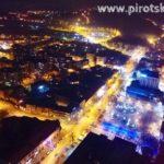 Pirot u novogodišnjoj noći (snimci iz vazduha)