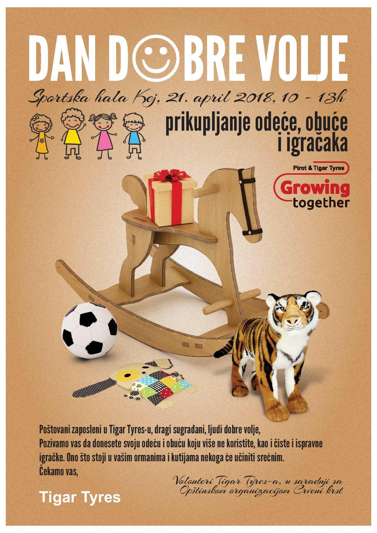 Photo of Tigar tajers organizuje Dan dobre volje u hali Kej
