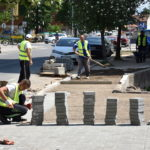 Popločavanje trotoara u Takovskoj ulici