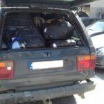 Zaplenjen džip bugarskih tablica pun švercovane robe