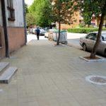 Rekonstruisana jedna strana trotoara u Takovskoj ulici