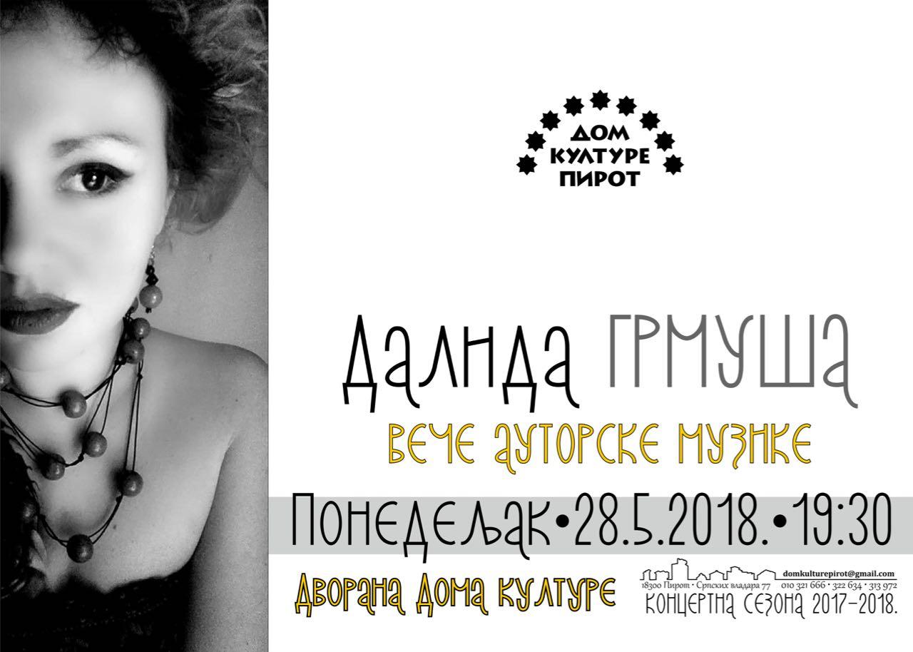 Photo of U ponedeljak koncert Dalide Grmuše