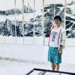 Slika u poeziji  kineske umetnice Đo In Fan u galeriji u Pirotu