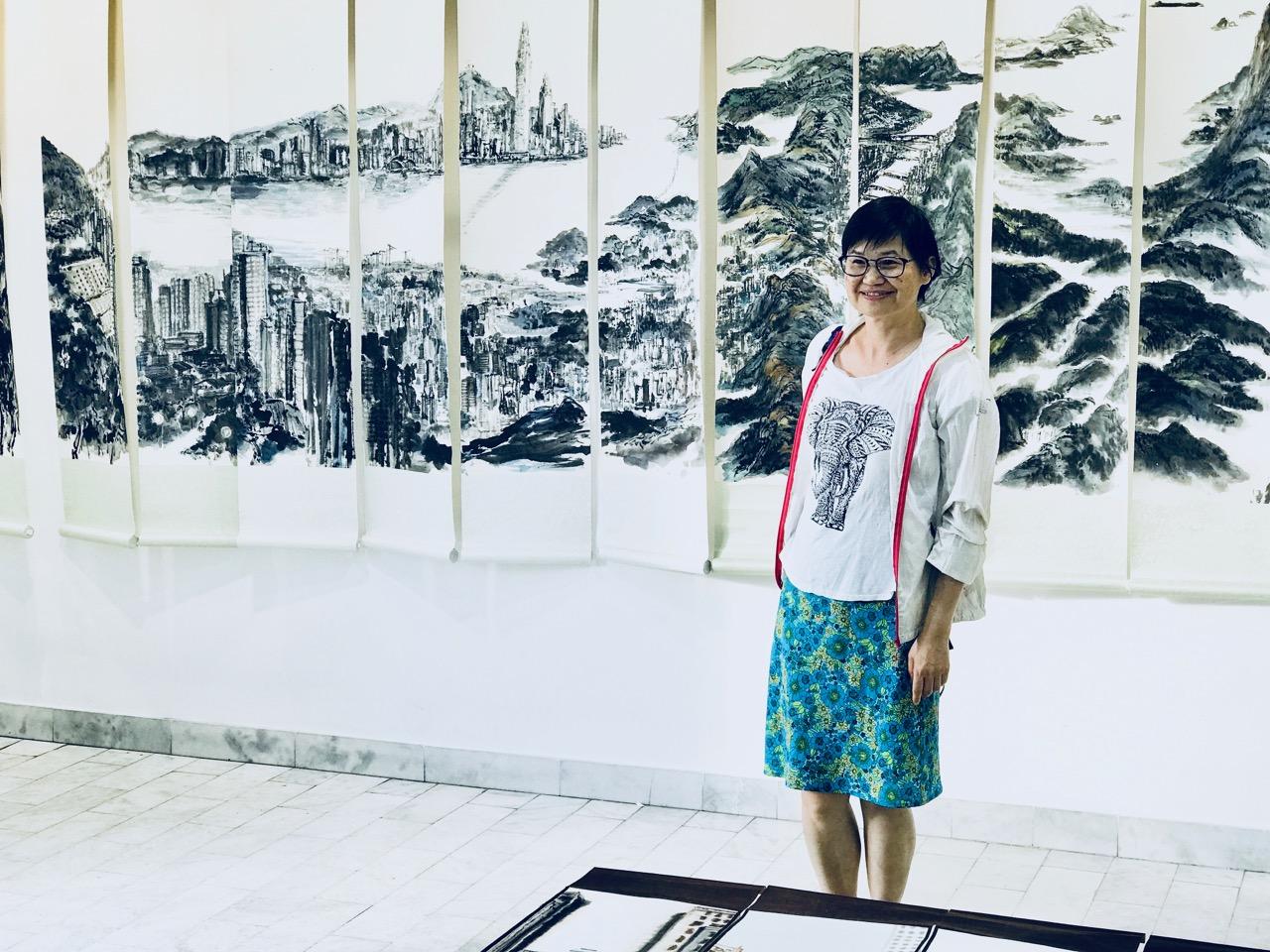 Photo of Slika u poeziji  kineske umetnice Đo In Fan u galeriji u Pirotu