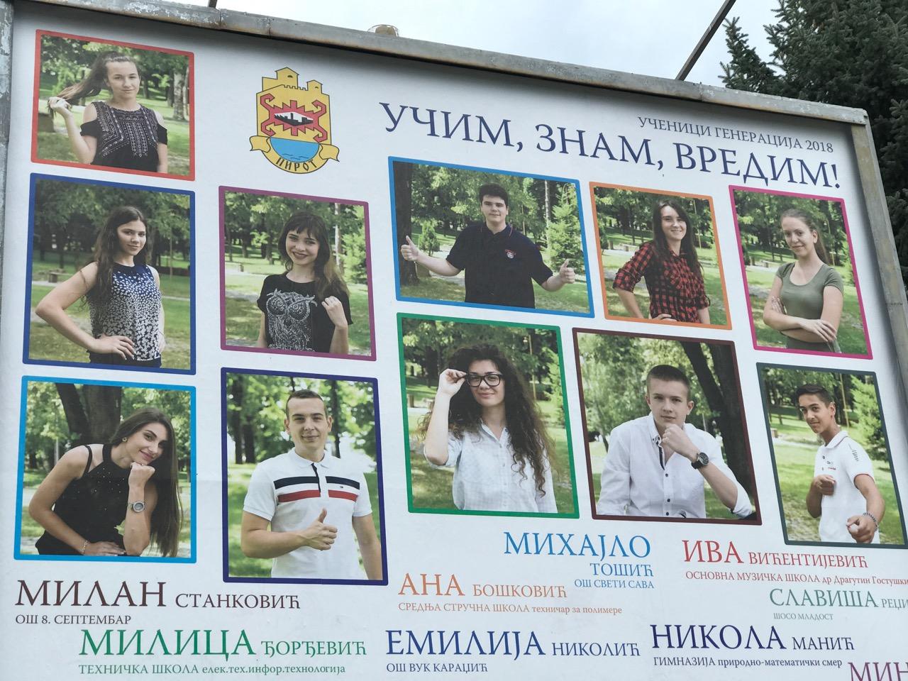 Photo of Učim, znam, vredim – poruka sa bilborda u Pirotu koja je obišla Srbiju