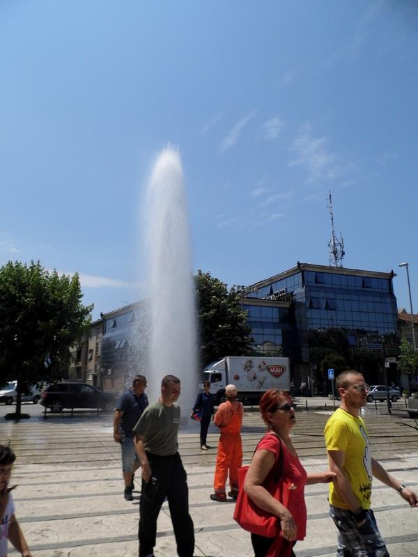 """Photo of U Centru grada havarija napravila """"gejzir"""""""