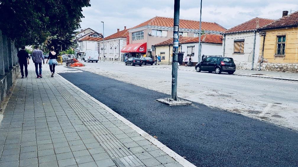 Photo of Završeno uređenje trotoara u Srpskih vladara i Vojvode Stepe