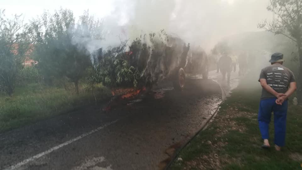 Photo of Izgorela letina na putu Barje Čiflik-Rasnica, vatrogasci sprečili širenje požara
