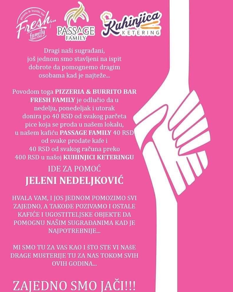 Photo of Humanitarna akcija za pomoć Jeleni Nedeljković