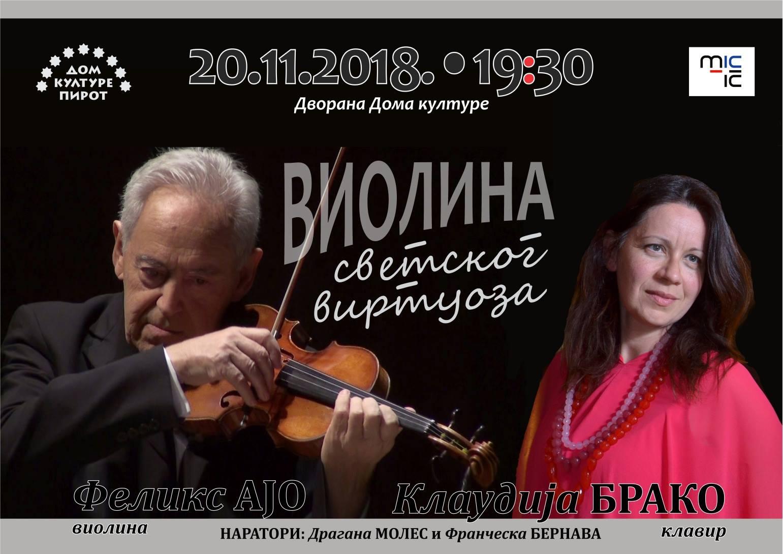 Photo of Jedan od najvećih italijanskih i svetskih violinista u Pirotu