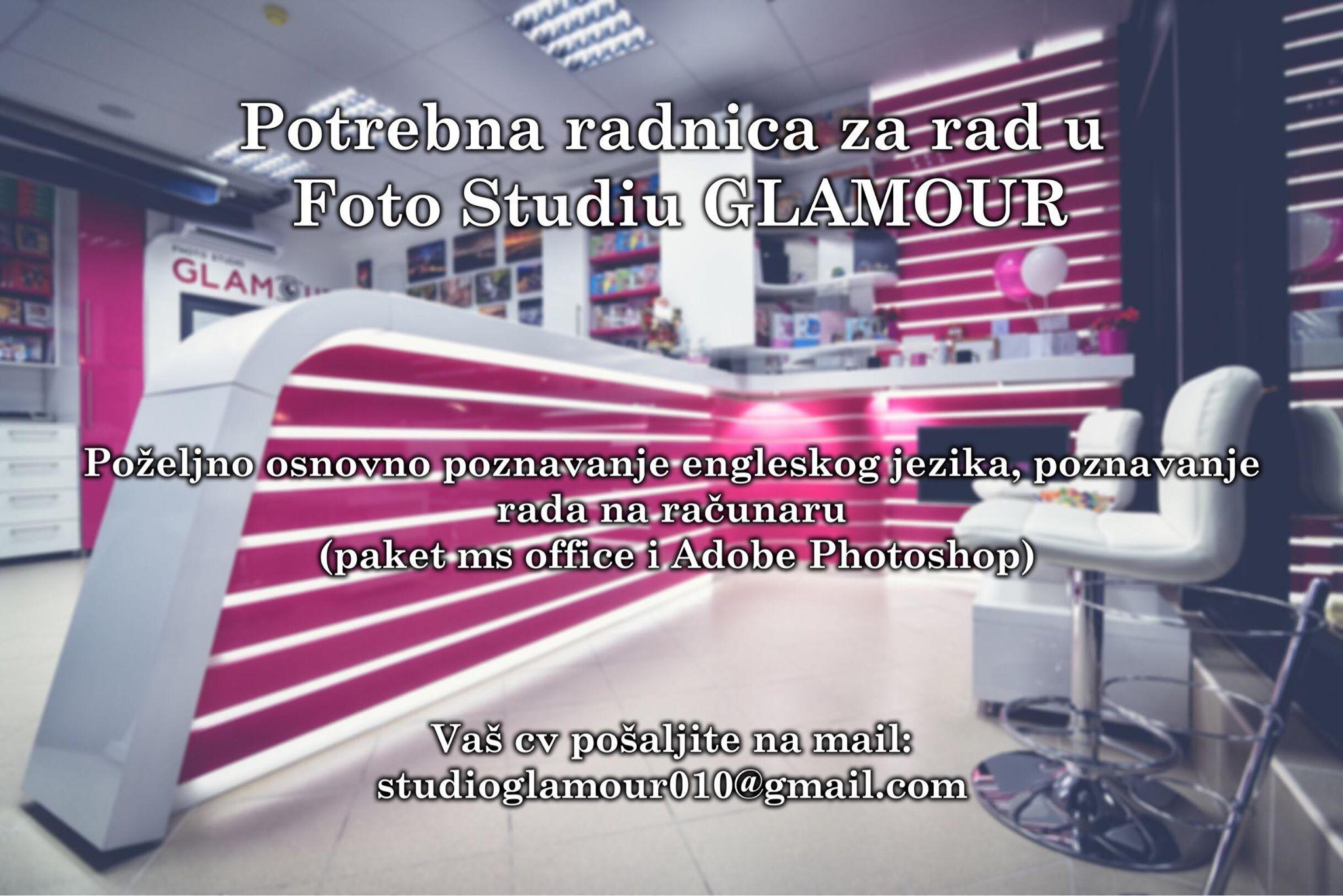 Photo of POSAO: Foto studiu Glamour potrebna radnica