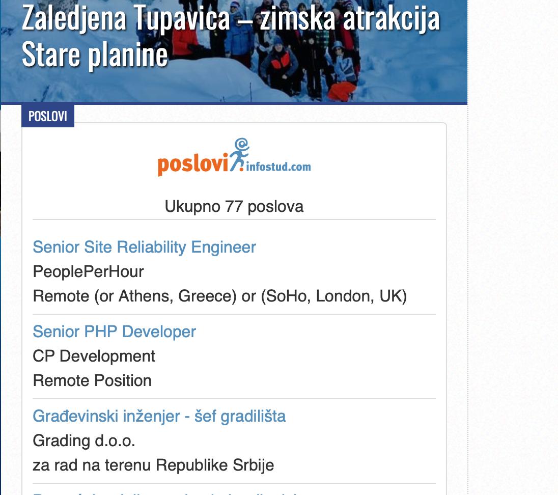 """Photo of SARADNJA: Oglasi za posao """"Poslovi Infostud"""" i na Pirotskim vestima"""