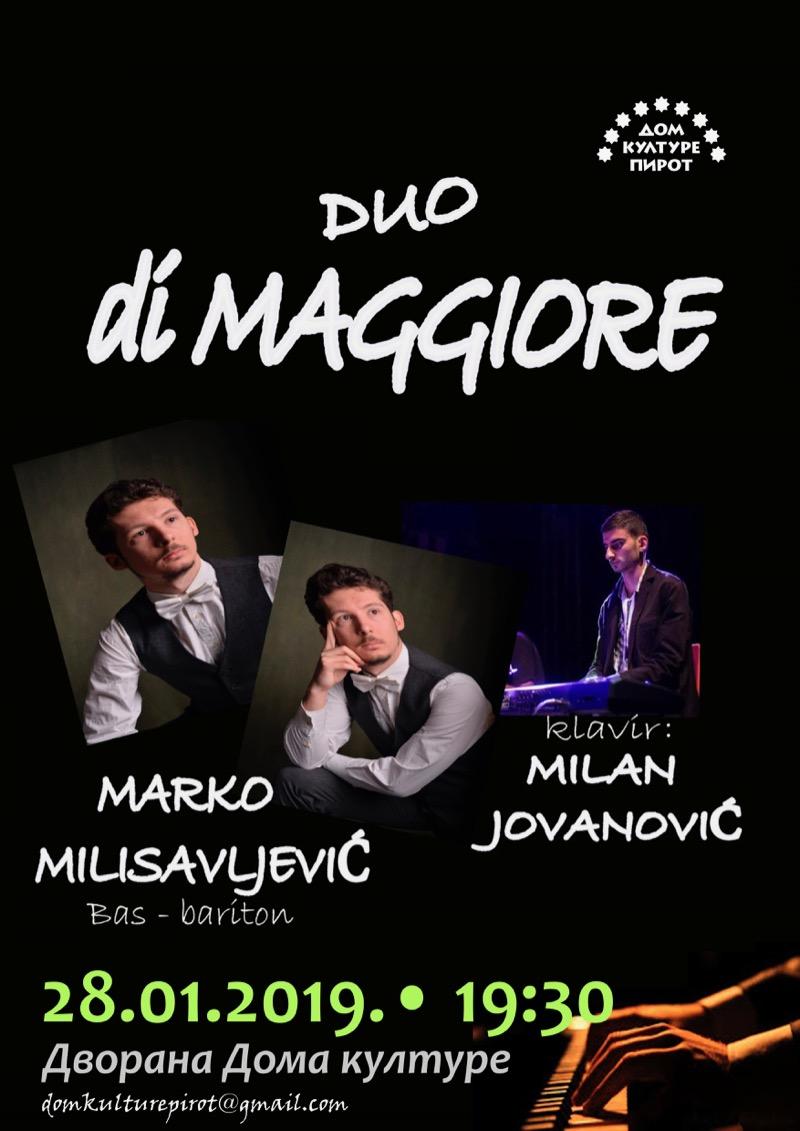 "Photo of Koncert klasične muzike – nastupa duo ""Di mađore"", ulaz slobodan"